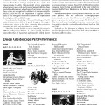 A Chronology of Dance Kaleidoscope